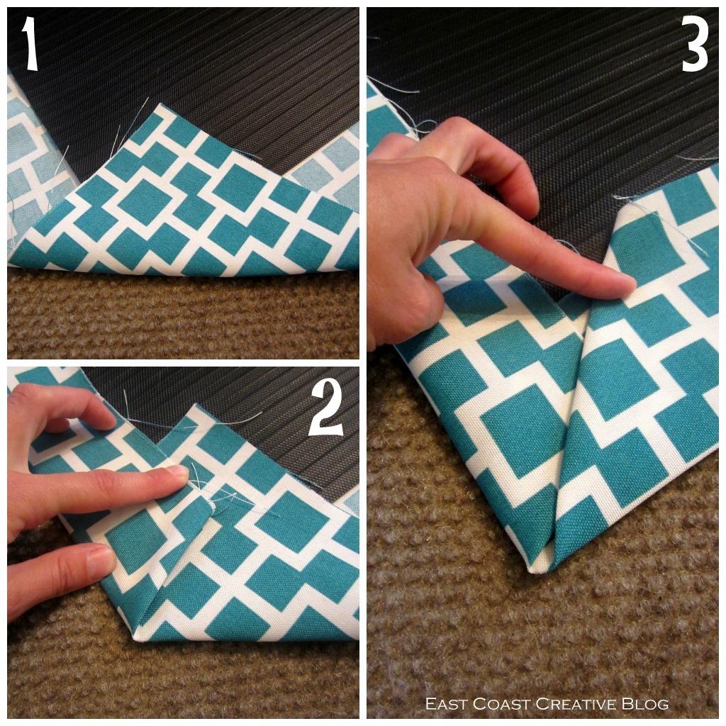 DIY Fabric Floor Cloth {Floor Mat}