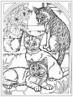 Free Realistic Cat Coloring Pages For Adult