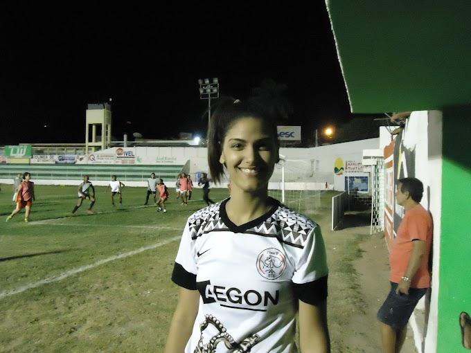 Sertaniense Laís está otimista em defender o Flamengo de Arcoverde