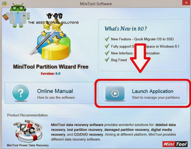 Aplikasi Minitools Partition Wizard