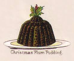 Mrs. Beeton Christmas Plum Pudding illustration