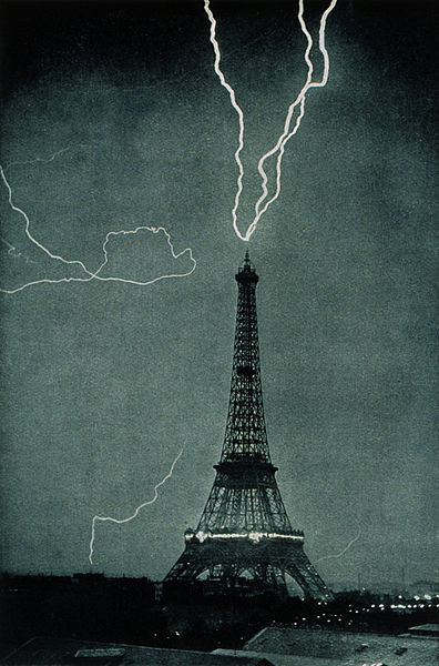 Lightning striking the Eiffel Tower, June 3, 1902. A Republic, If and Other stories of Past Leaders Responding to Now. marchmatron.com