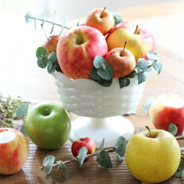 Five minute apple centerpiece