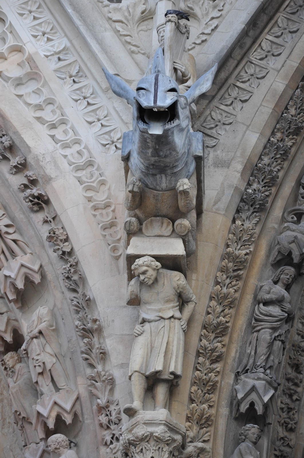 Dragon-shaped water spout, Reims Cathedral, Reims, France
