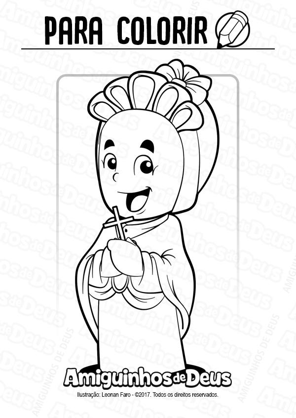 Santa Josefina Bakhita desenho para colorir
