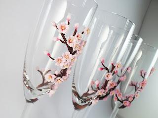 Pahare nunta orhidee