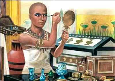 Egyptian males wore makeup and cosmetic