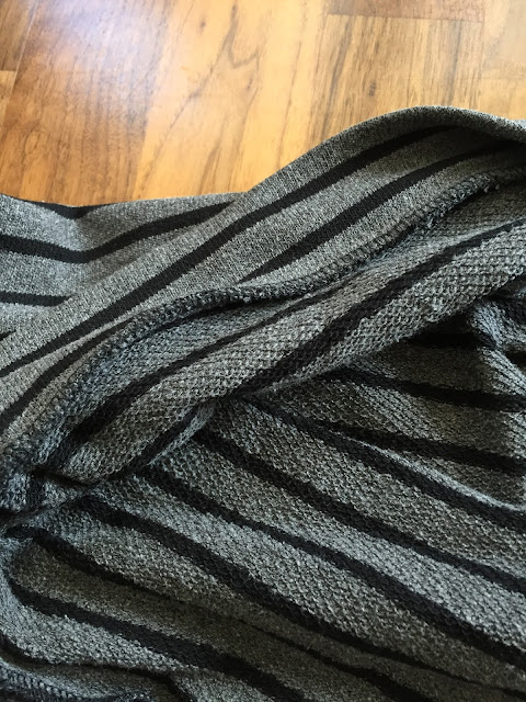 Diary of a Chain Stitcher: MIY Collection Brightside Shrug in Striped Grey French Terry