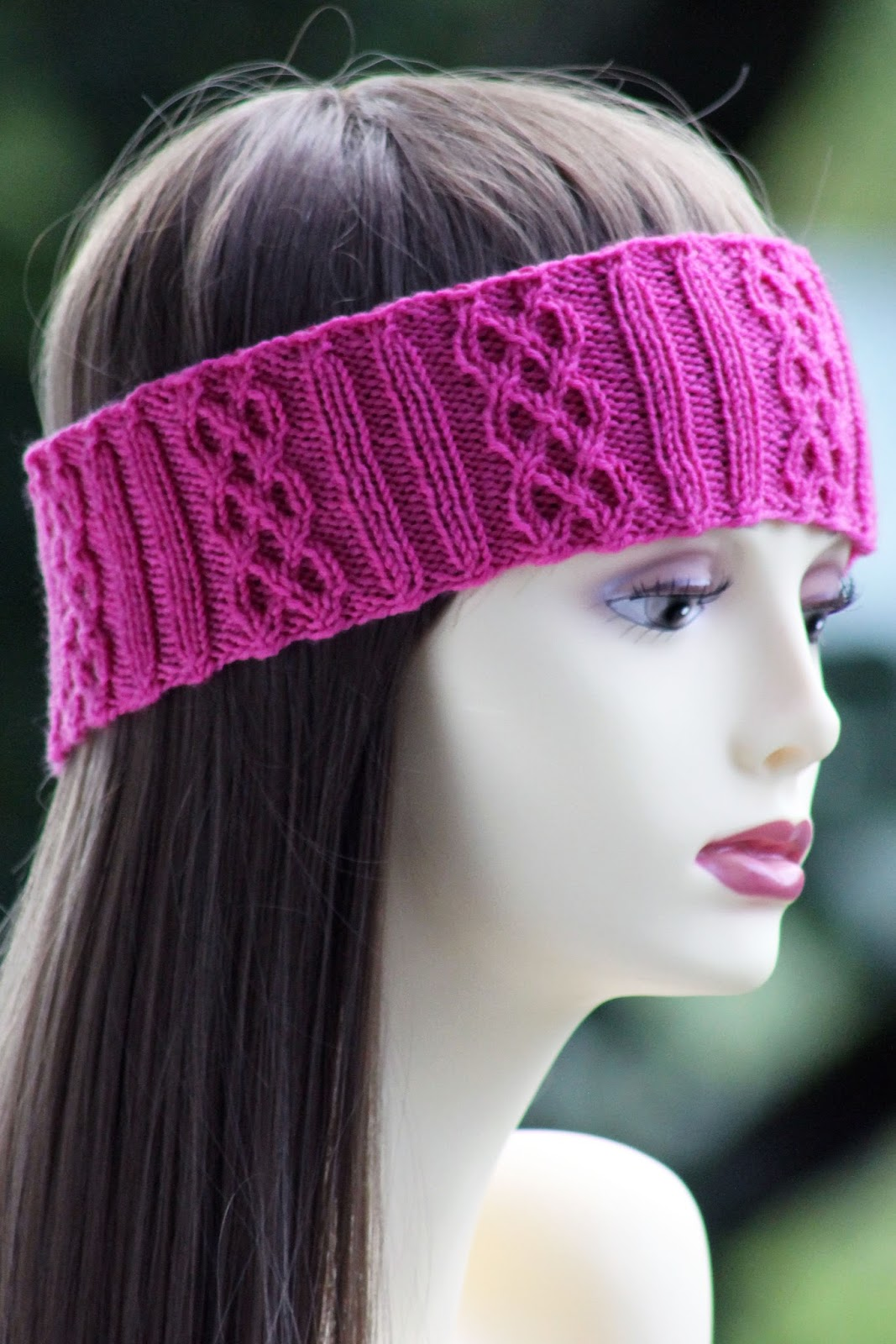 balls to the walls knits rib braid headband