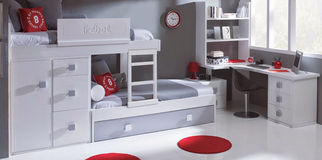 Camas triples amueblar un dormitorio para tres - Habitaciones infantiles 2 camas ...