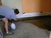 Attempt Staining Concrete - Magic Brush