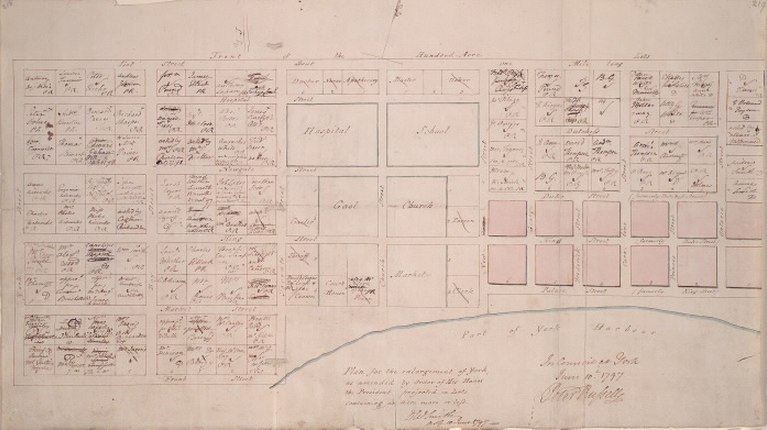 1797 Plan for the enlargement of York, DW Smith, map