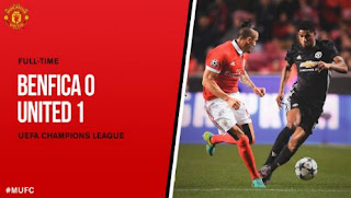 Benfica vs Manchester United 0-1
