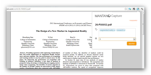 Mantano Capture ebook Chrome Extension