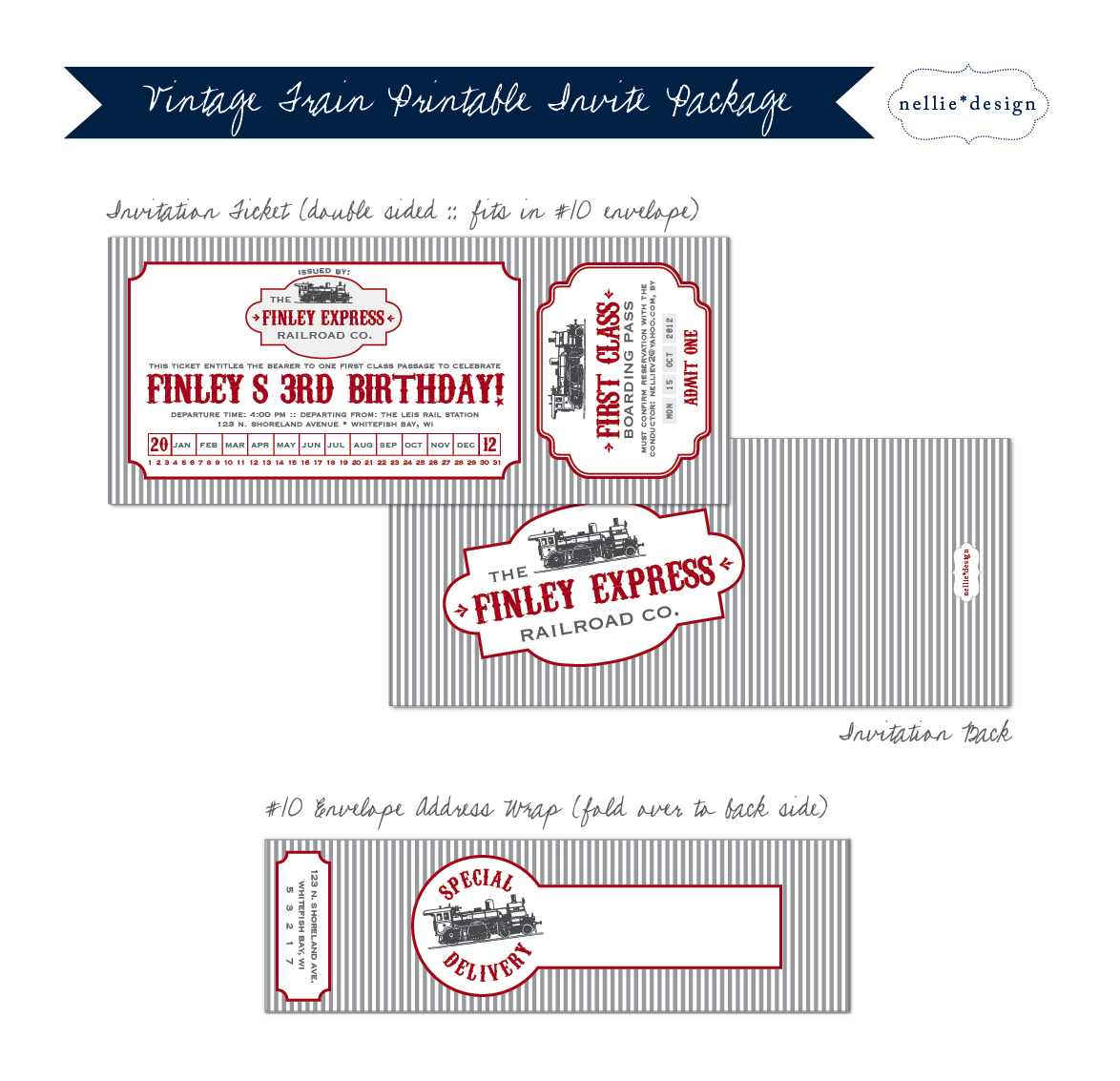 Decorate For The Party With These Matching Vintage Train Printables