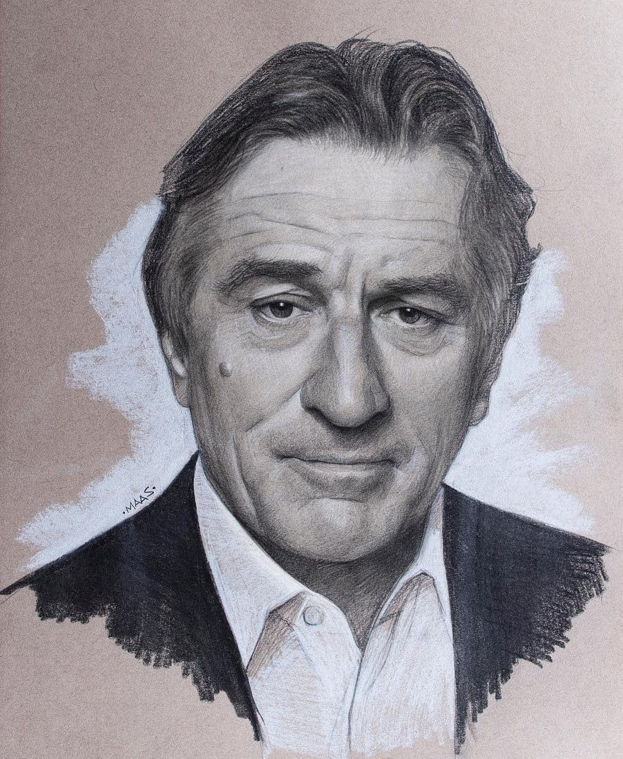 15-Robert-Deniro-Justin-Maas-Pastel-Charcoal-and-Graphite-Celebrity-Portraits-www-designstack-co