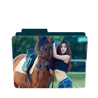 Preview of Girl, Horse riding,beautful, Wallpaper folder icon