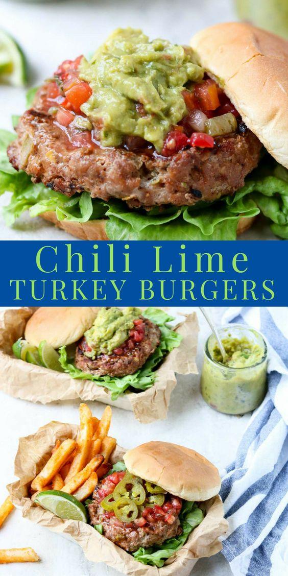 Chili Lime Turkey Burgers