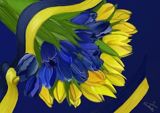 Картинки по запросу квіти синьо-жовті