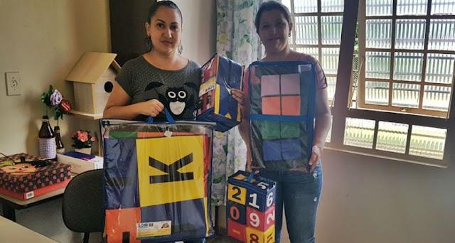 Roncador: Secretaria de Educação entrega materiais pedagógicos para escolas
