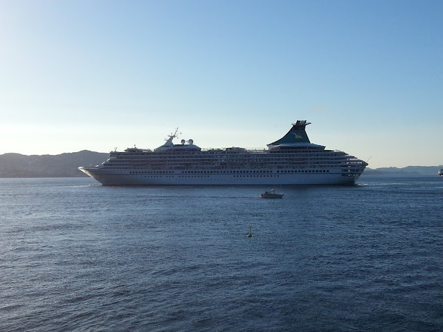 Cruise ship Artania in Bergen, Norway; Fjords Cruise; Ships in Bergen