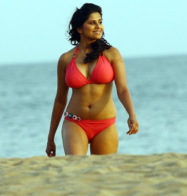 Sai Tamhankar Hot Bikini Photos In Beach