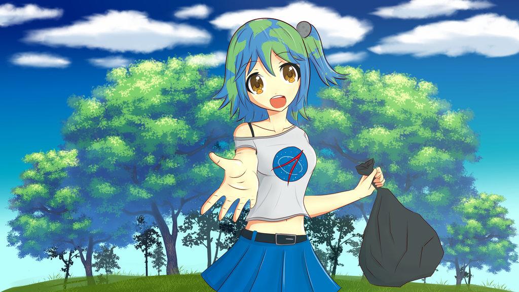 Mengenal Earth Chan Karakter Representasi Bumi Yang Kawai Itsuka Diary