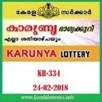 KARUNYA (KR-334) LOTTERY RESULT