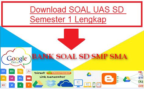 Bank Soal Ujian Akhir Semester Akhir (UAS) Semester 1 SD, SMP dan SMA