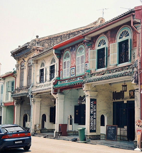 Chinese shophouses in Malacca, Malaysia