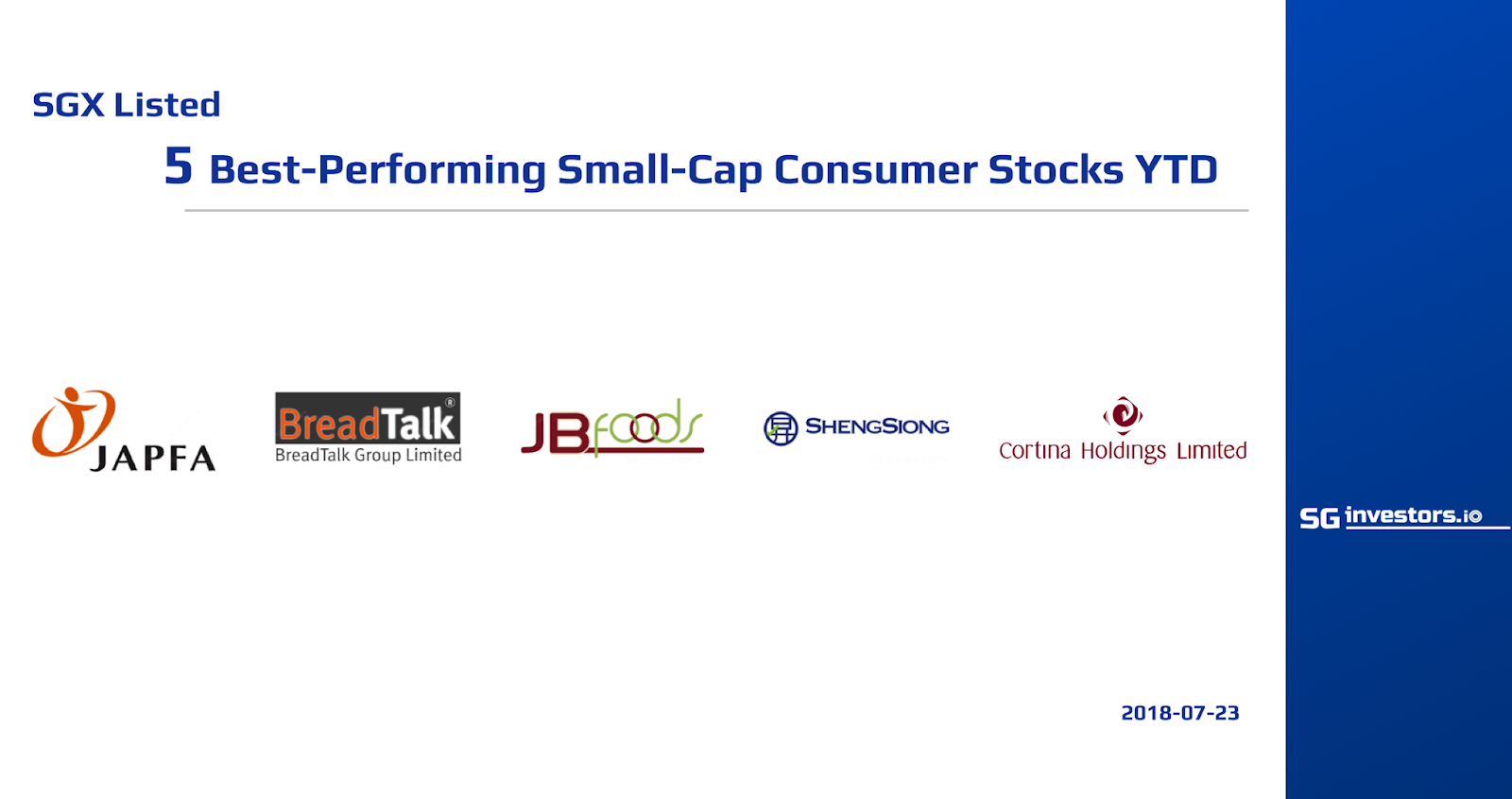 5 Best-Performing SGX Small-Cap Consumer Stocks Average 26 ...