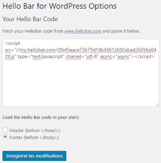 Installer Hello Bar sur son blog WordPress