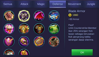 Blade Armor Mobile Legends