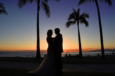 Silhouette Wedding Photo