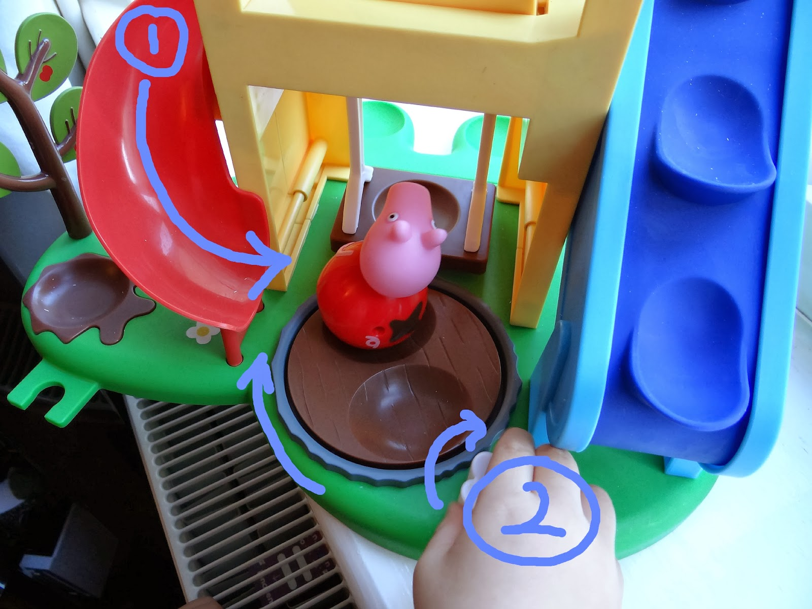 Peppa Pig Weebles Wind and Wobble PlayHouse, Peppa Pig Weebles Pull-along Wobbily Train, Peppa Pig Weebles Push along Wobbily Car