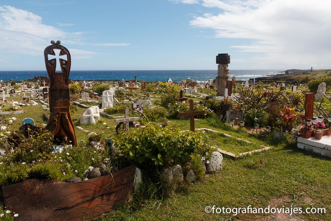 Cementerio de Hanga Roa en Isla de Pascua