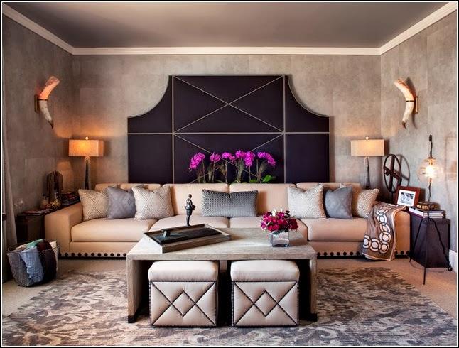 Salas decoradas con puffs - Ideas de salas con estilo