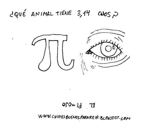 ¿Qué animal tiene 3,14 ojos? El pi-ojo