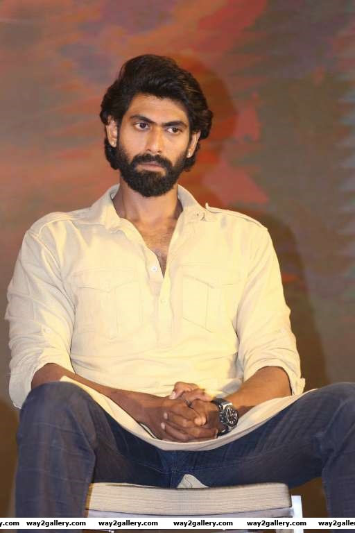 Rana Daggubati made his presence felt at the press meet of Baahubali