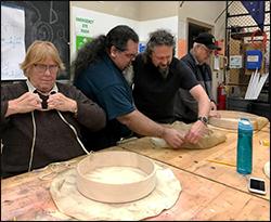 Judy, Abel, Tom, I think a guy named Dennis--making Indian drums