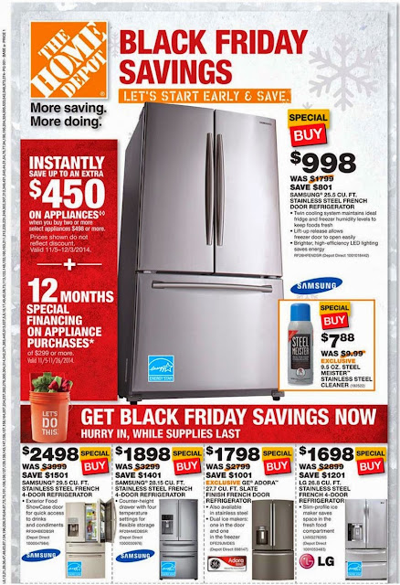 Home Depot Early Black Friday Sale 2014 Ad