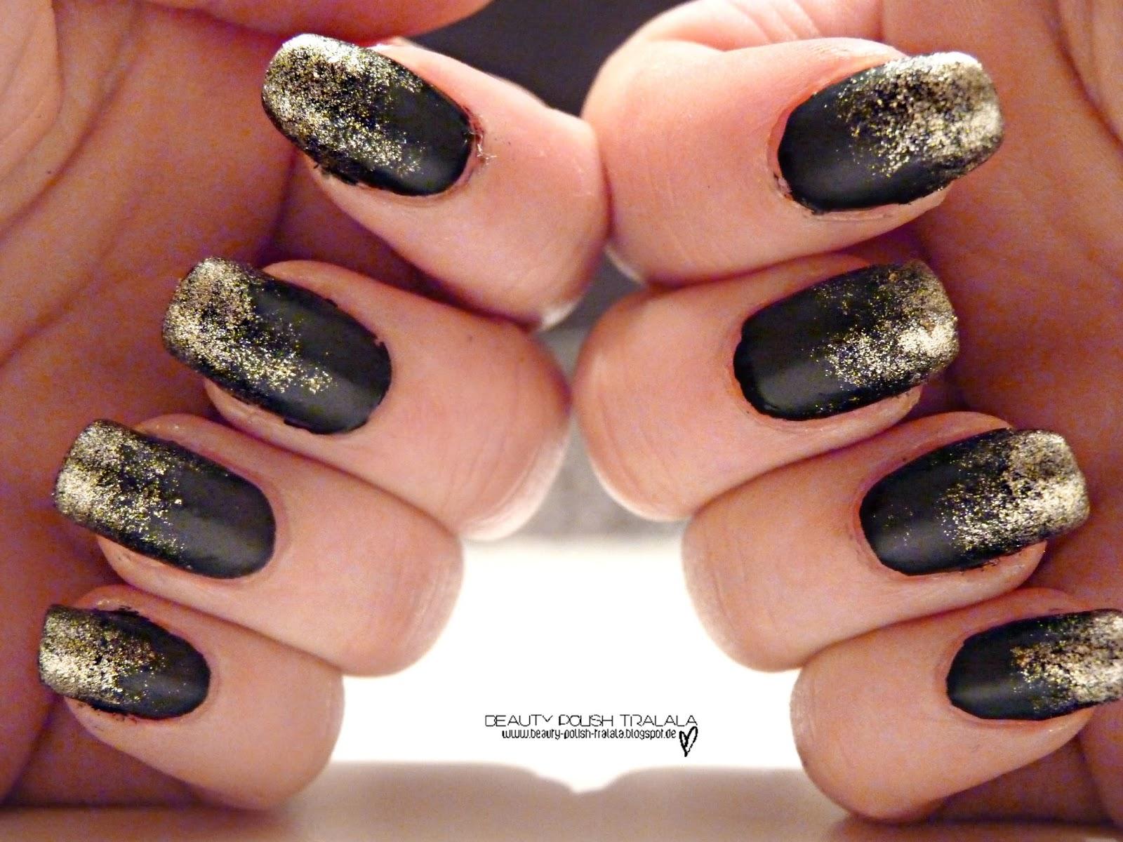 beauty polish tralala naildesign goldregen. Black Bedroom Furniture Sets. Home Design Ideas