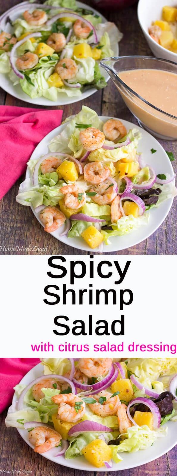 Spicy Shrimp Salad - the perfect summer salad
