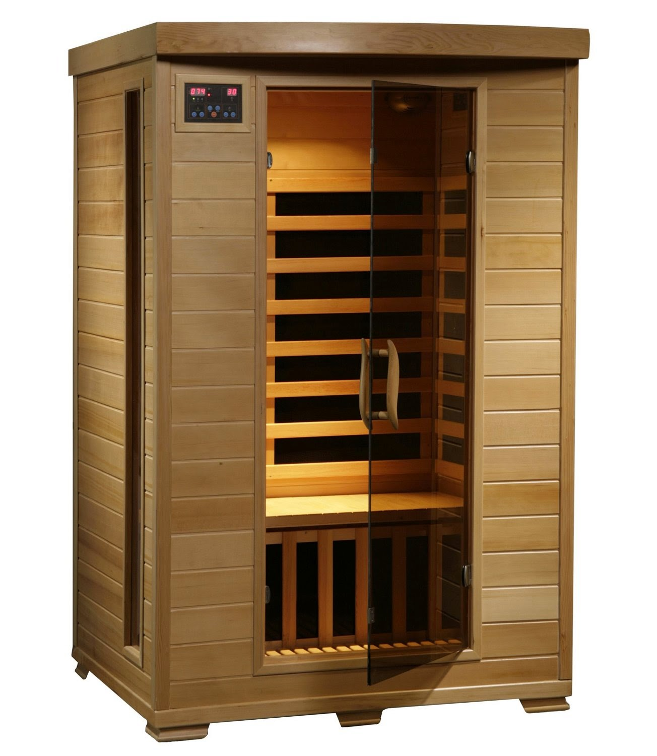 Radiant Saunas BSA2409 2 Person Hemlock Infrared Sauna with 6 Carbon Heaters, health benefits of saunas