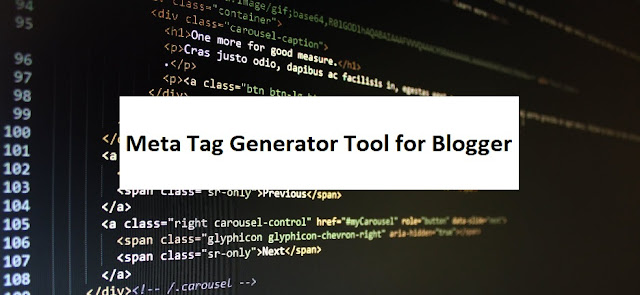 Meta Tag Generator Tool for Blogger