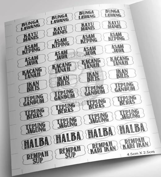 Senarai Label Barang Dapur Desainrumahid