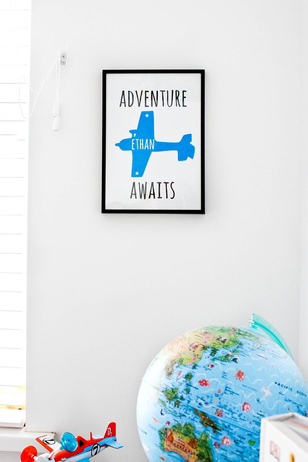 adventure awaits print, modern prints for kids, scandi kids, plane themed bedroom, plane bedroom, kids decor, modern kids decor, airplane kids room,