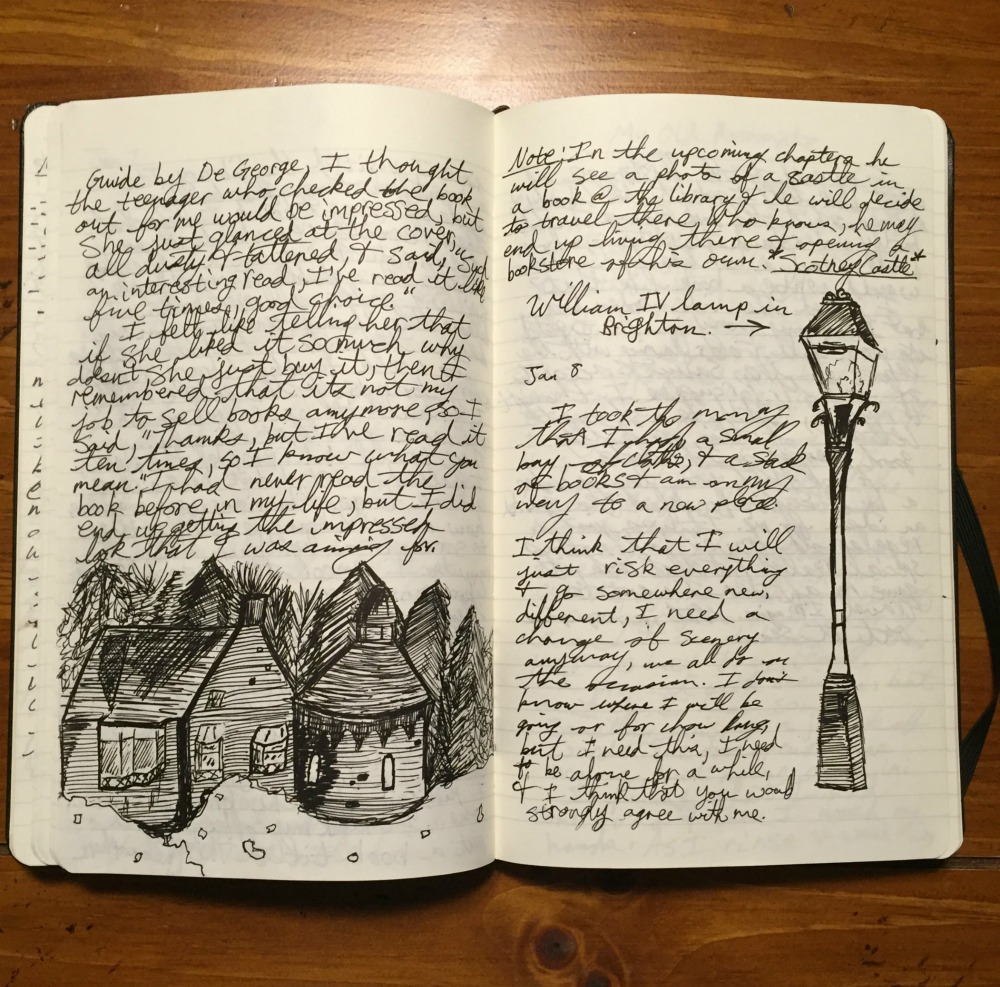 Diary handwriting