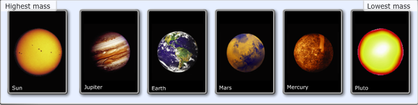 Planets Ranked by Size - Bing images