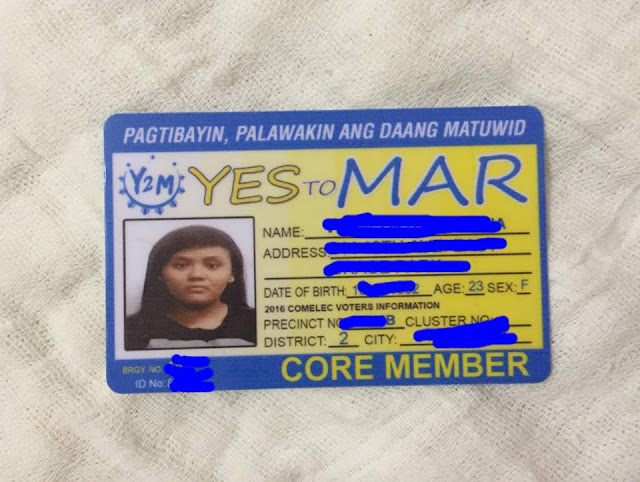 "Netizen gets fake ""Yes to Mar"" I.D""?"